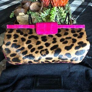 Nancy Gonzalez Leopard Calf & Fuschia Crocodile